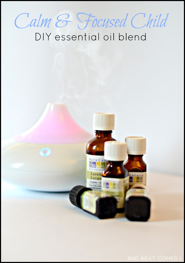 DIY custom essential oil blend that will keep your kids calm and focused - great for kids with autism too! from And Next Comes L