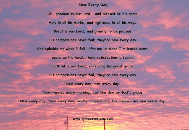 God's mercies are new every day