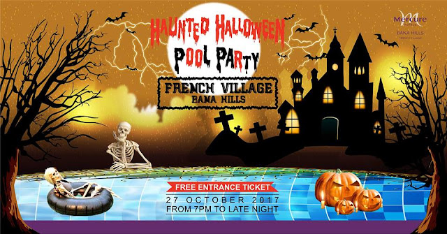 Haunted Halloween Pool Party at French Village 2017 - Mercure Bana Hills French Village