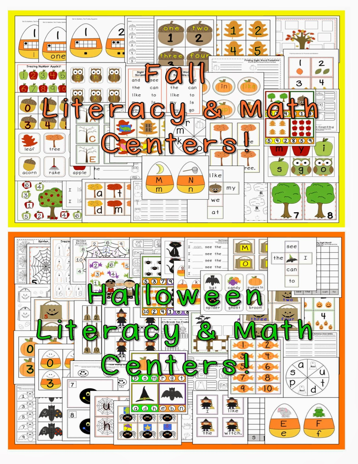 Fall & Halloween Centers! LOTS and LOTS! SALE!!