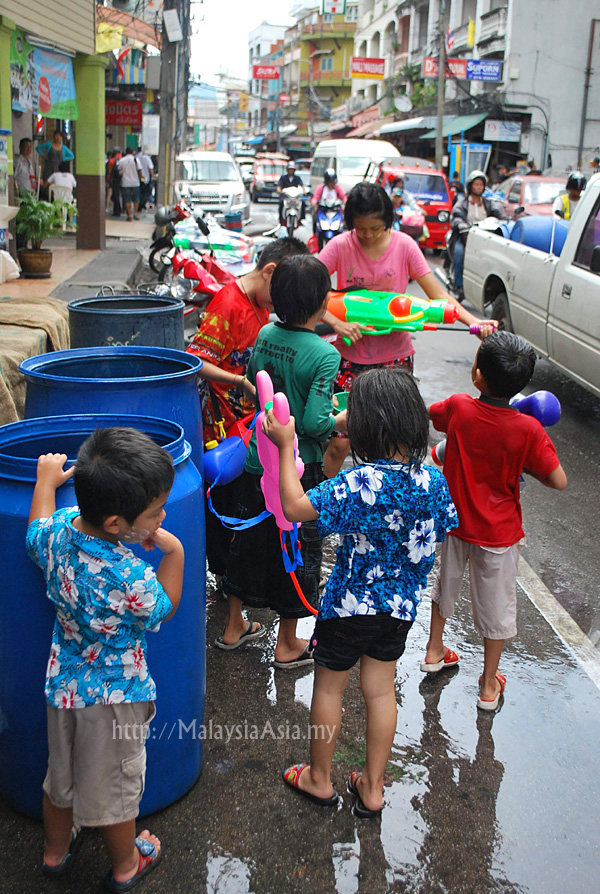 Kids during Songkran