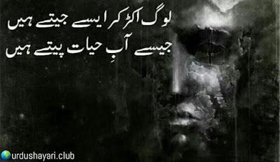 Log Aker Ker Aise Jeetay Hain..  Jaise Ab-e-Hayat Peetay Hain..!!  #lines