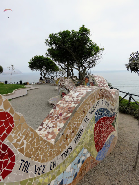 Mosaic-tiled artwork along Lima's Malecon (The Miraflores Boardwalk)