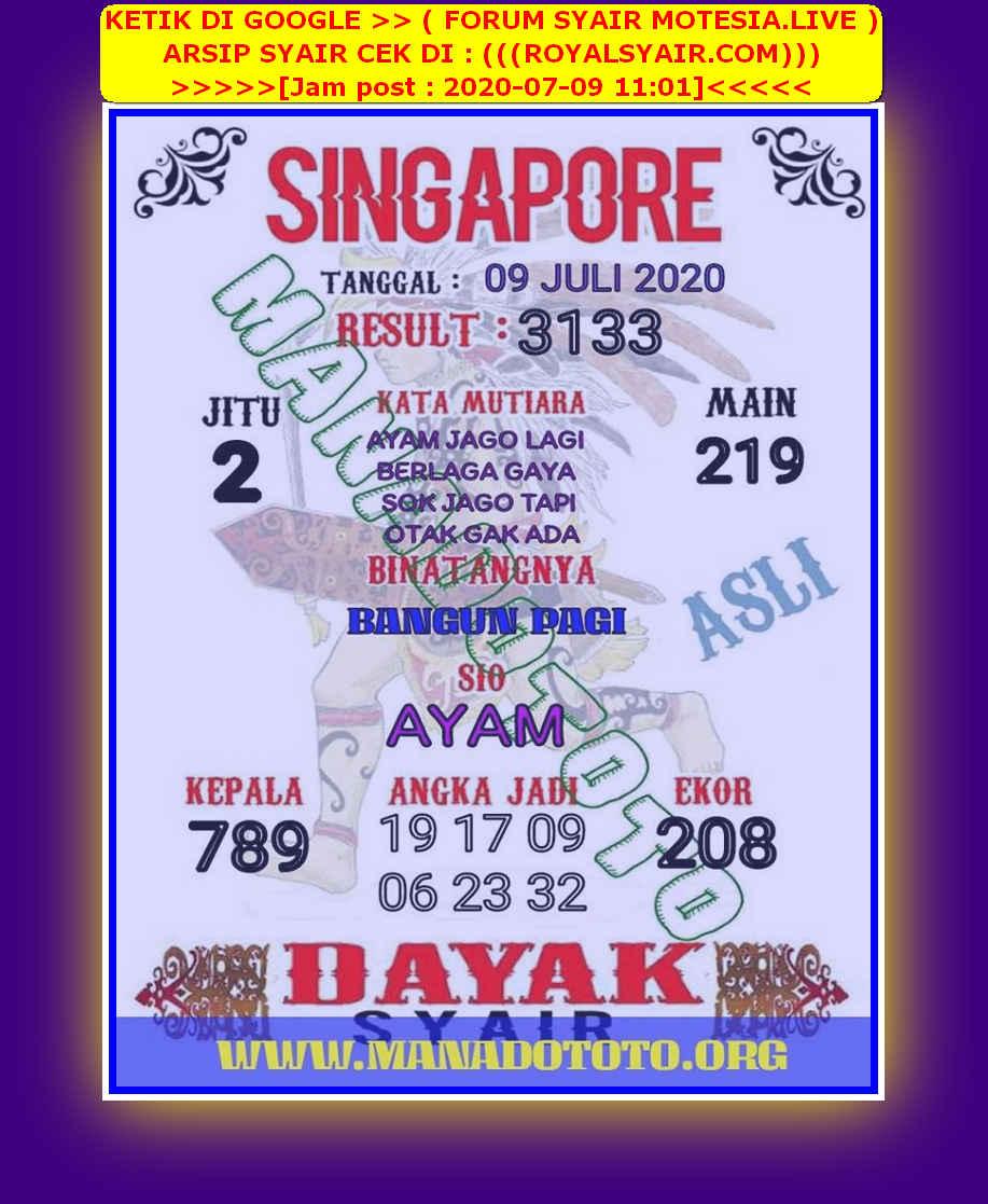 Kode syair Singapore Kamis 9 Juli 2020 44