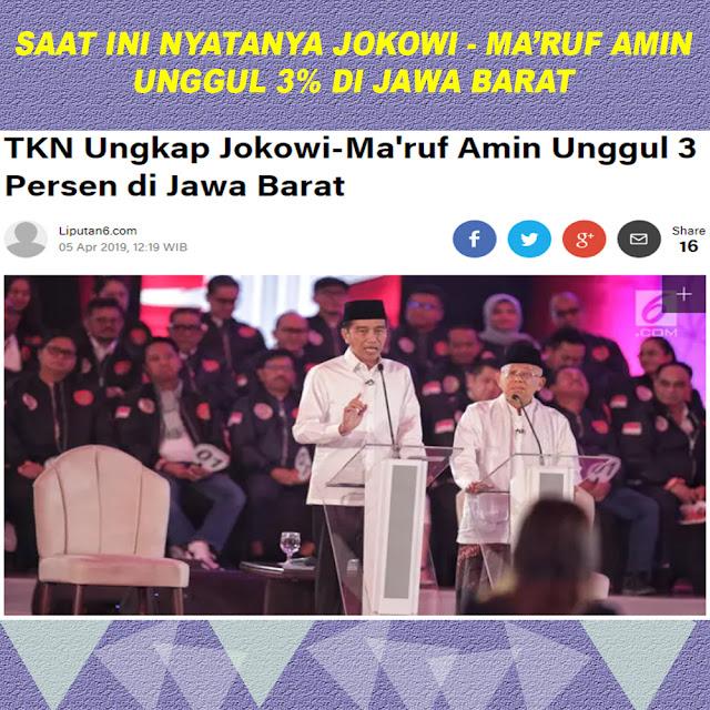 TKN ungkap Jokowi-Ma'ruf Amin Unggul 3 Persen di Jawa Barat