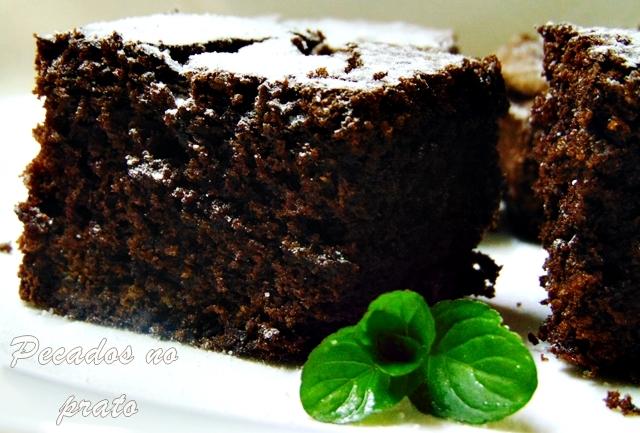 Brownie de chocolate com pedaços