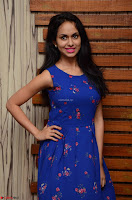 Pallavi Dora Actress in Sleeveless Blue Short dress at Prema Entha Madhuram Priyuraalu Antha Katinam teaser launch 026.jpg