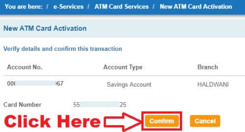 how to activate sbi atm card first time online