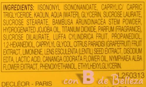 Ingredientes mascarilla purificante Decleor