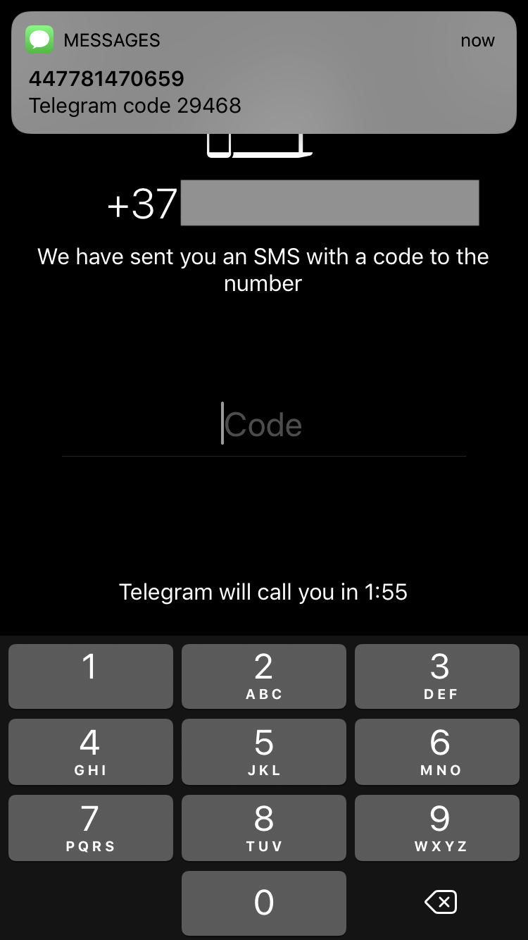 Telegram X SMS verification and account registration - IT NEWS