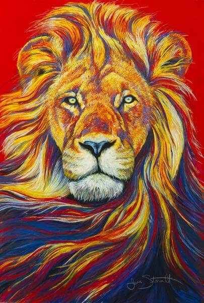06-African-Lion-Large-Scale-Soft-Pastel-Drawings-Of-Wild-Ainimals-www-designstack-co