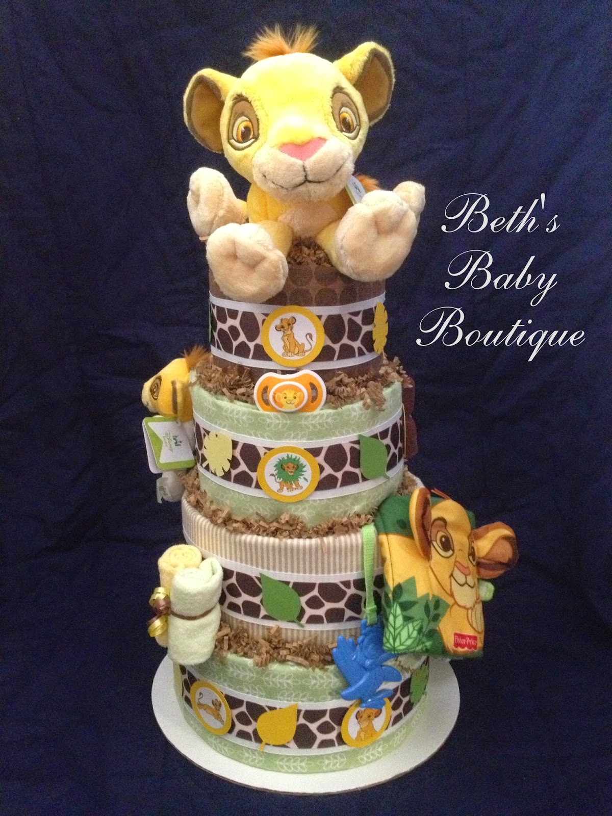 For This Cake I Opted To Create A More Neutral Base That Was Reminiscent Of The Lion King Baby Items Were Widely Available