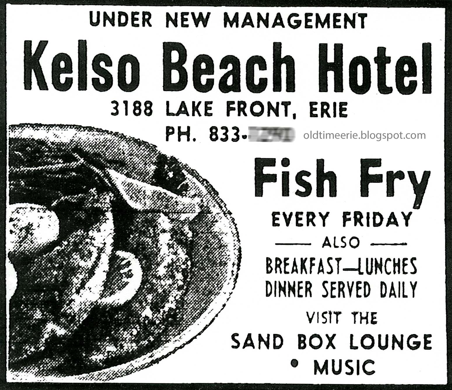 Old Time Erie: Kelso Beach Hotel Millcreeek Twp 1968