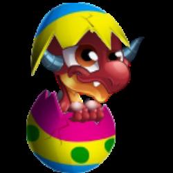 Das Erscheinen des Baby Eier Drache
