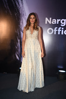 Nargis Fakhri Without bra sexy Cleavages at launch of her own app