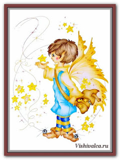 Cross stitch chart «KAM 1252 Stargazer - artwork by Karen Middleton»