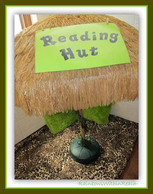 Kindergarten Reading Hut: Jungle Theme via RainbowsWithinReach