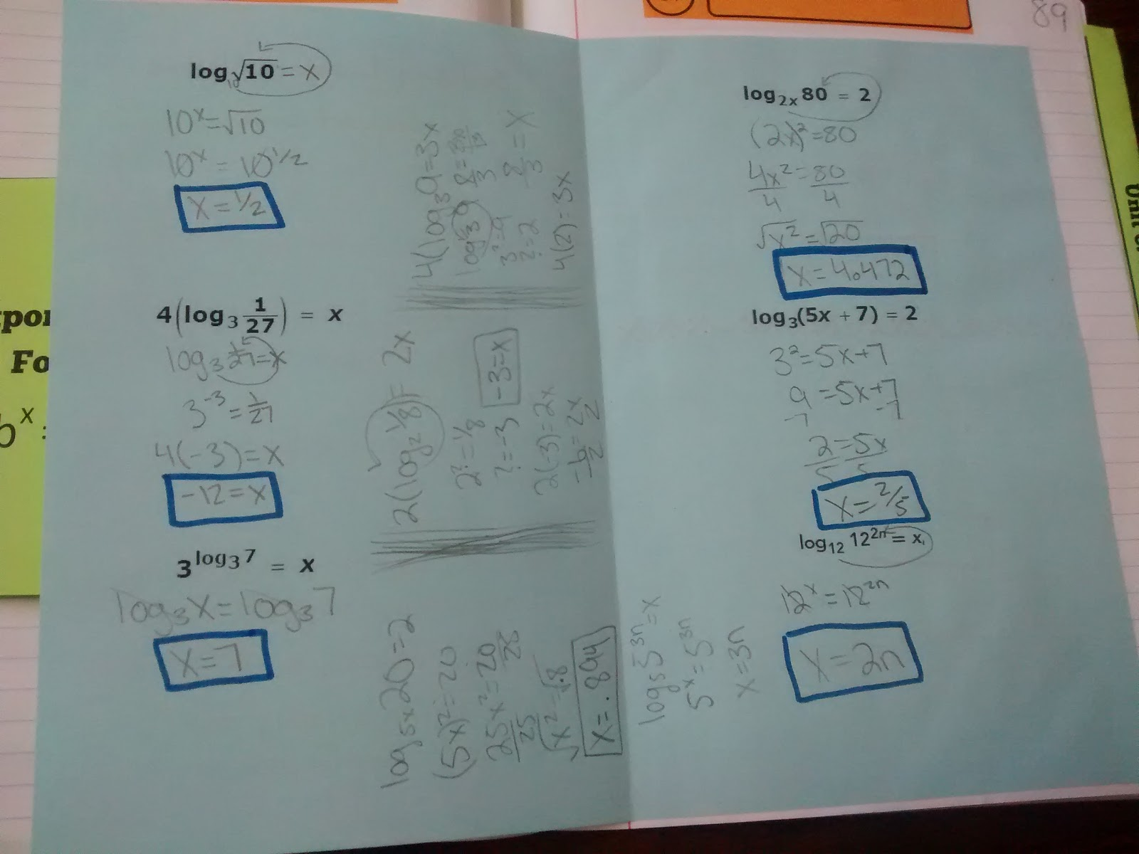 Math = Love: Exponential and Logarithmic Equations - Interactive ...