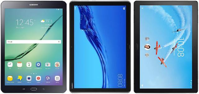 Comparativa mejores tablets de ~10 pulgadas y menos de 250 euros