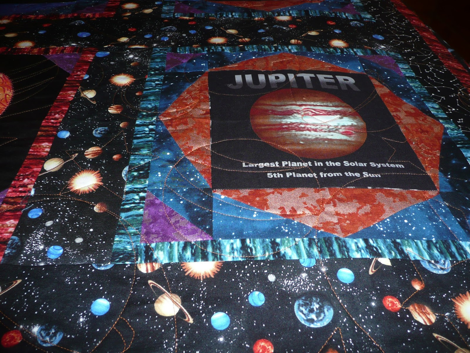 Acorn ridge quilting for Outer space quilt patterns