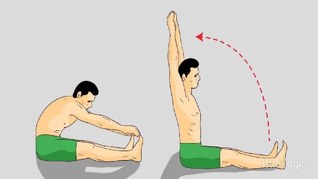 4. Kéo cột sống ra phía trước TĂNG CHIỀU CAO