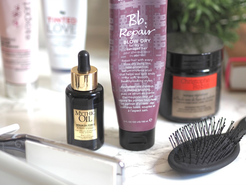 bumble and bumble repair blow dry loreal mythic oil serum de force
