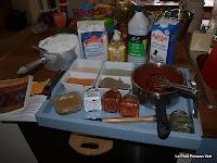 Alles staat klaar voor het koken van de verf