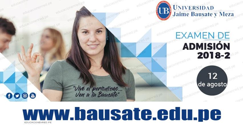 Resultados Bauzate y Meza 2018-2 (12 Agosto) Ingresantes Examen Admisión Ordinario - Universidad Jaime Bausate y Meza - www.bausate.edu.pe