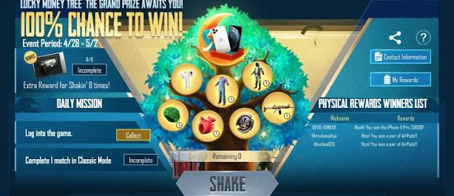 PUBG Mobile: Lucky Money Tree Etkinliğinde ücretsiz iPhone 11 Pro nasıl kazanılır?