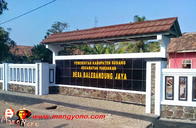 Desa Balebandung Jaya, Kecamatan Pabuaran. Poto Jepretan Mang Dawocx Facebooker Subang ( FBS )