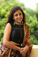 Lasya looks super cute in black choli Saree at Raja Meru Keka Press Meet ~  Exclusive 027.JPG