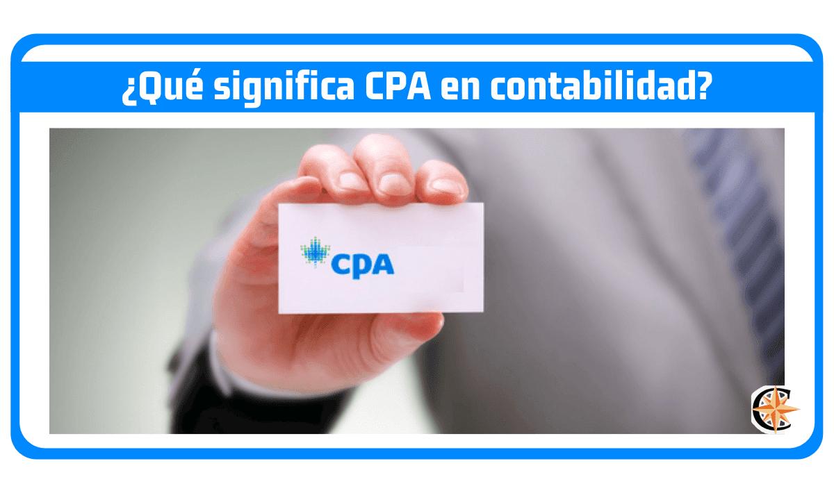 Significado de CPA en Contabilidad
