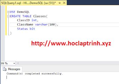 SQL Server: Hướng dẫn tạo bảng trong SQL Server (CREATE TABLE)