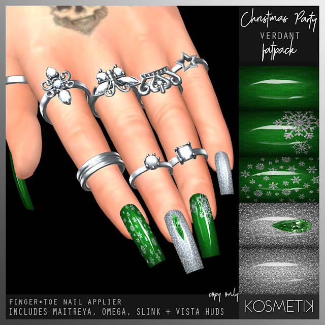 .kosmetik Christmas Party Verdant Nails