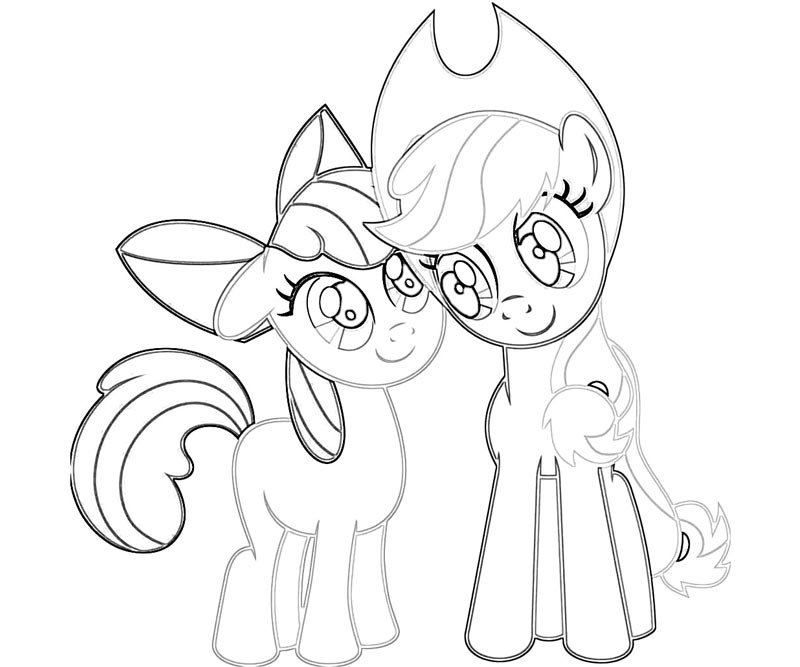 applejack pony coloring pages - 16 my little pony applejack coloring page
