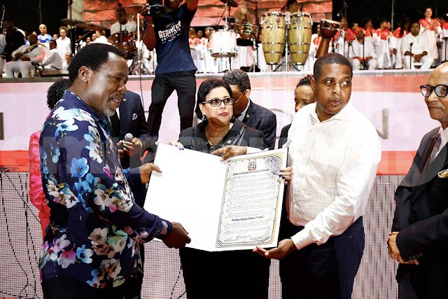 TB Joshua Gets Highest Senate Awards