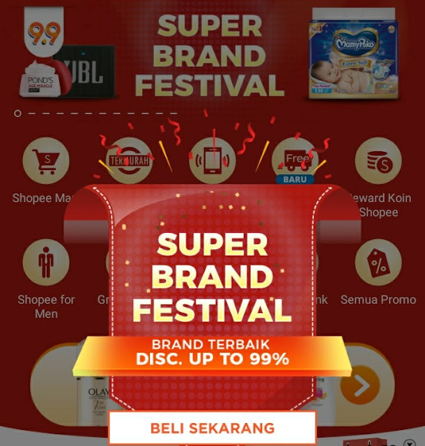 Super Shopping Day, Belanja Super Ala Shopee