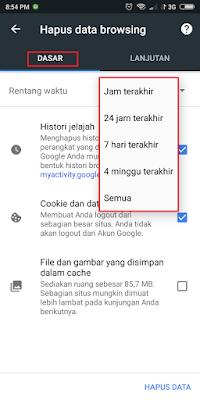 Cara Cepat Hapus History Google chrome di Android dan PC/laptop