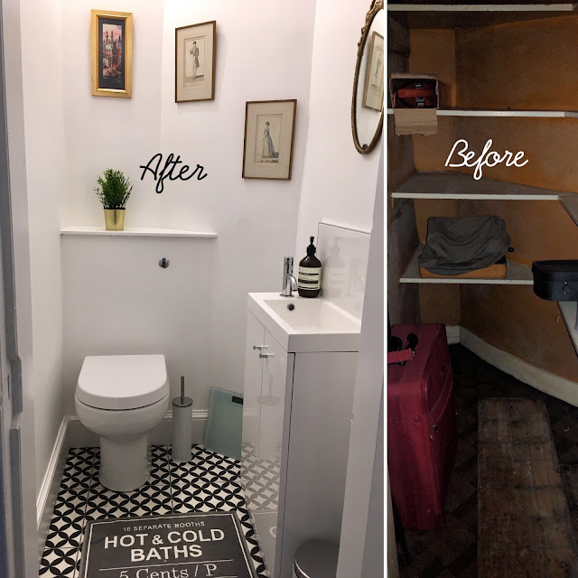 Downstairs loo/ cloakroom transformation