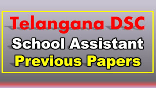Telangana DSC School Assistant Previous Papers