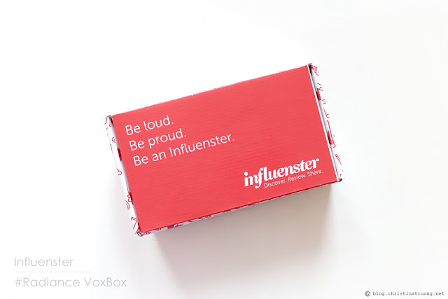 Influenster #Radiance VoxBox Unboxing - Christina Truong