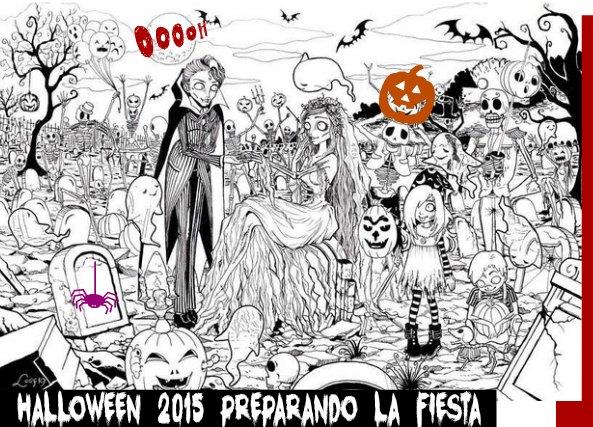 Halloween 2015 preparando la fiesta