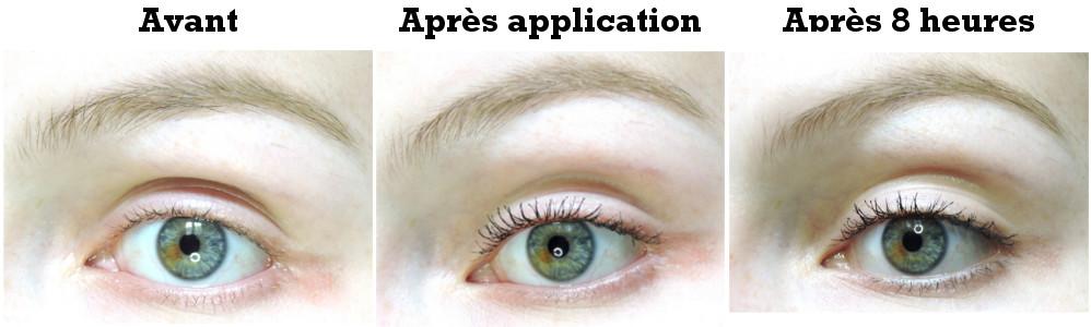 résultat test mascara paradise extatic voluminous black waterproof l'oréal paris