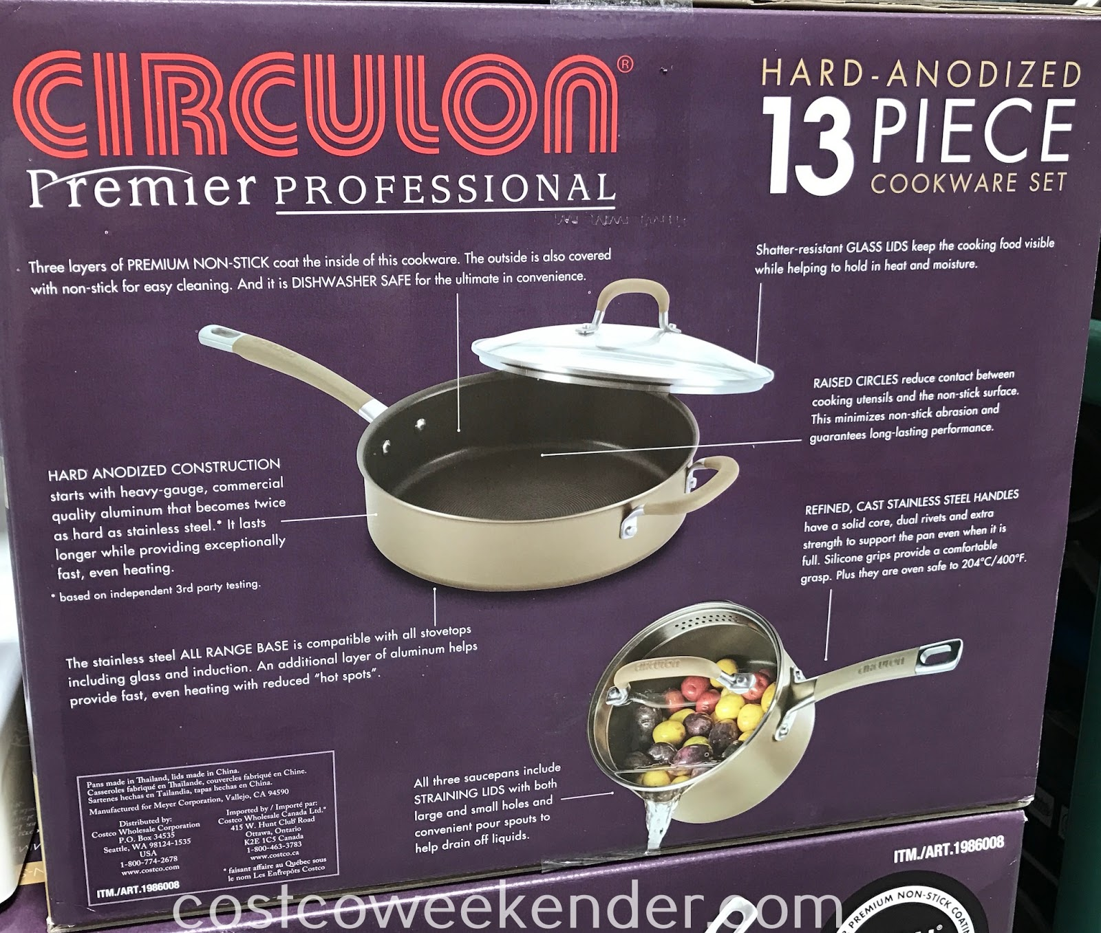 No kitchen is complete without the Circulon 13pc Hard Anodized Cookware Set