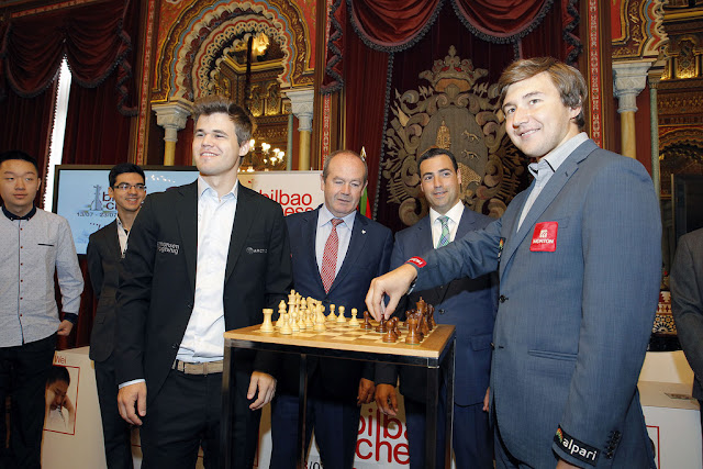 Carlsen y Karjakin se enfrentarán en el Bilbao Chess 2016