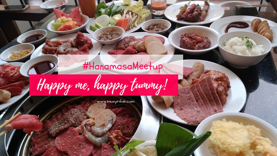 Lunch Cantik di #HanamasaMeetup : Happy Me, Happy Tummy!