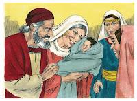 Luke 01:57-58 Birth of John the Baptist/Zechariah as priest