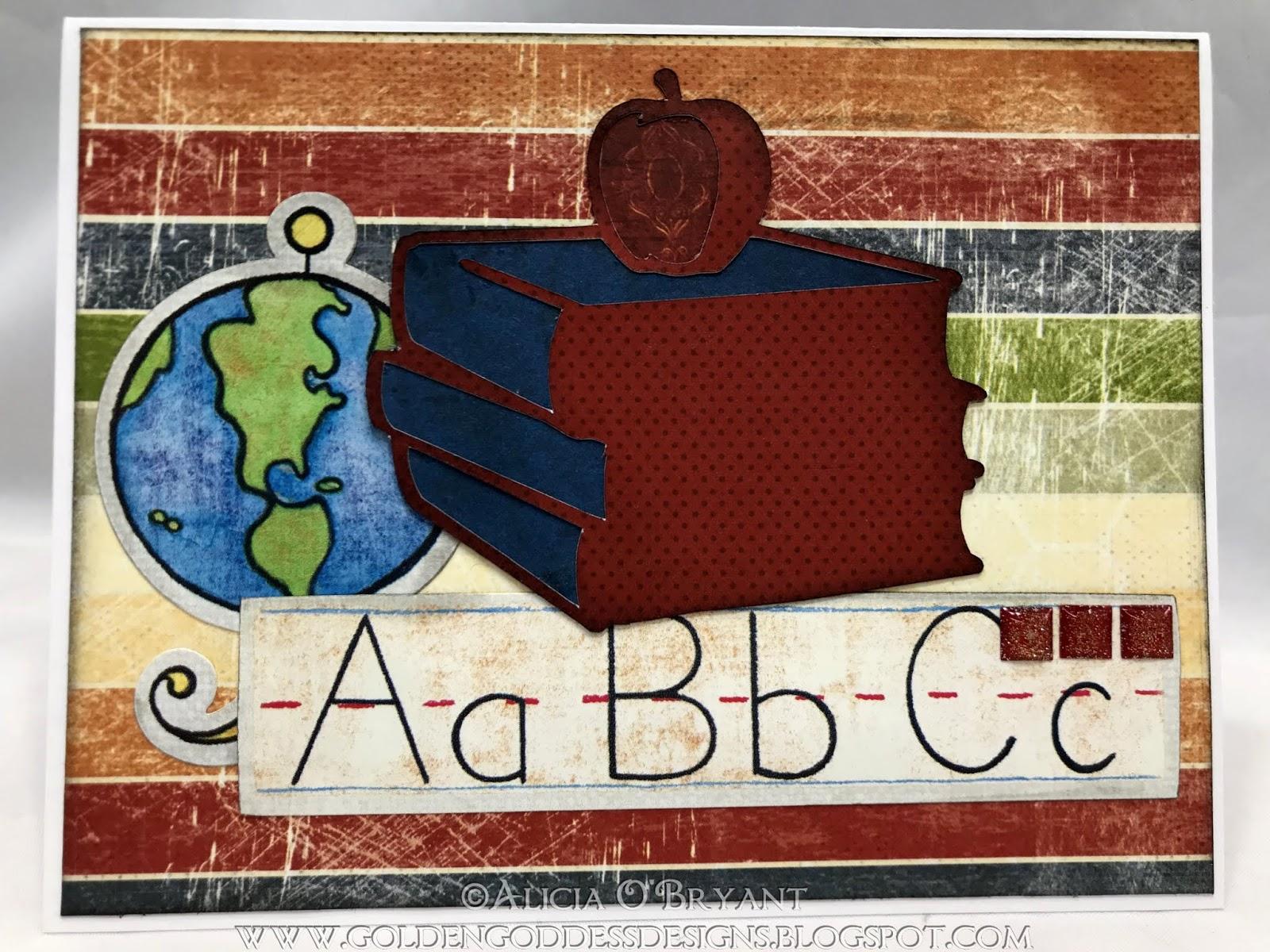 Golden Goddess Designs: Rainbow World Back to School card