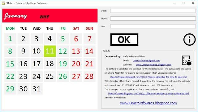 Date to Calendar source code