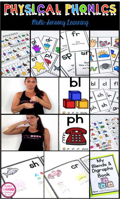 Learning Blends & Digraphs Through Movement - Physical Phonics {part 2}